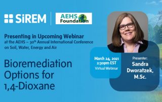 Sandra Dworatzek to Present on Bioremediation Options for 1,4-Dioxane at the AEHS – 30th Annual International Conference on Soil, Water, Energy and Air.